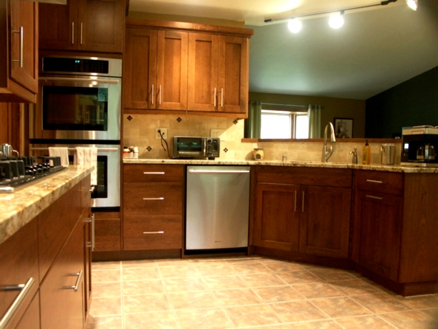 Transitional Cherry Kitchen 2